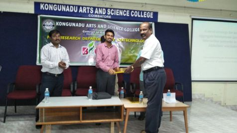 Kongunadu Arts & Science College, Coimbatore.